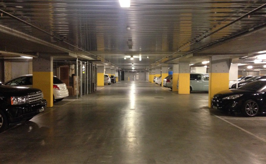 Secure underground car space South Yarra