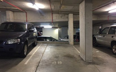 Underground security roller-door car park. Remote control tag for 24/7 access - Convenient Chatswood location.