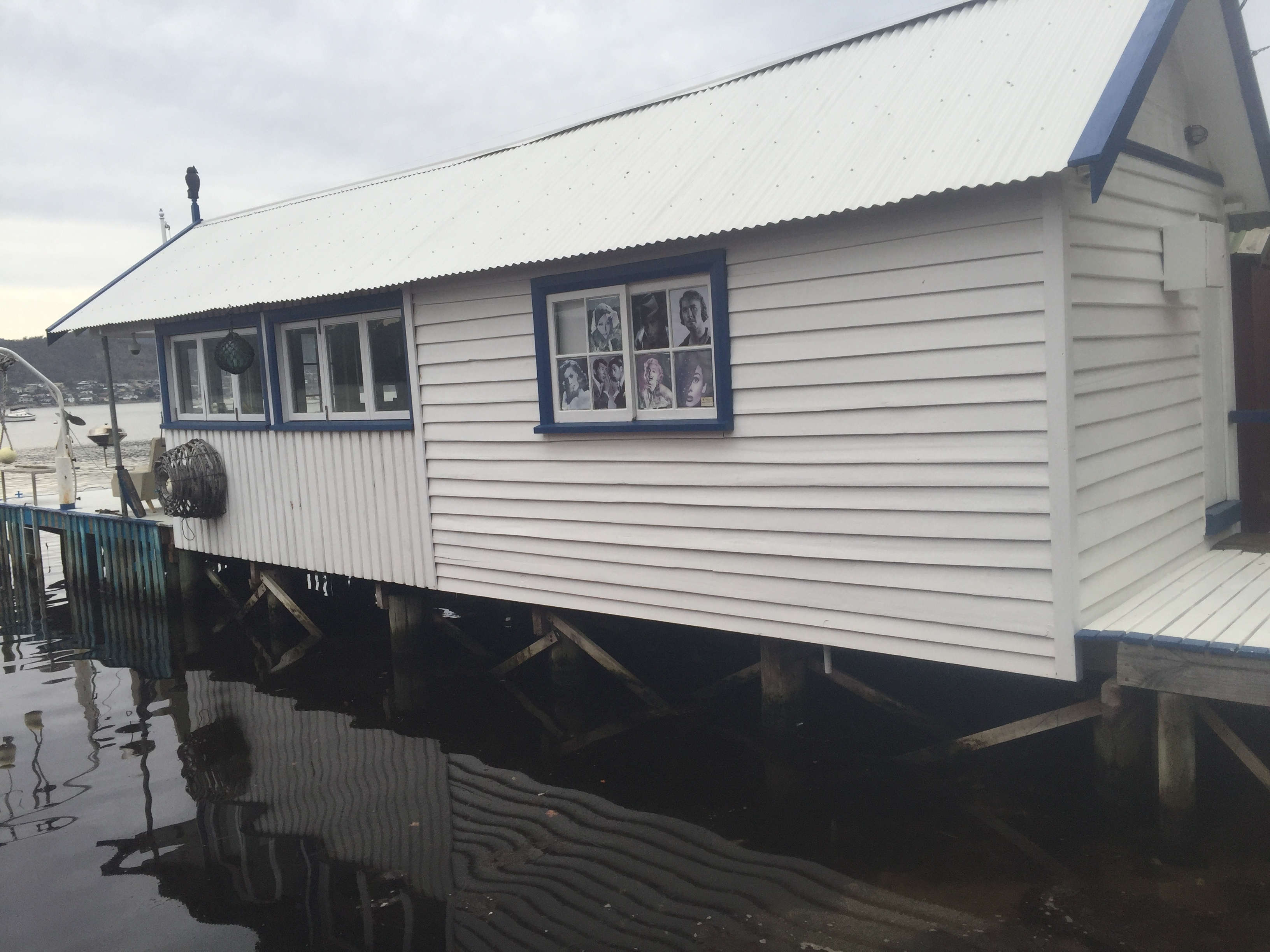 Not a marina in the traditional sense, but a private boatshed with jetty and living facilities.
