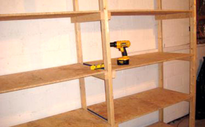Basement storage for small boxes