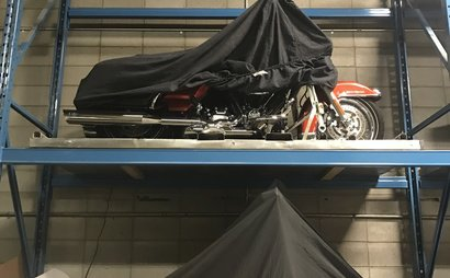 Heated, Secure Motorcycle Storage!