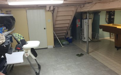 Large heated basement storage room