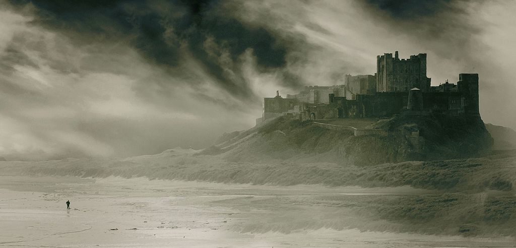 North east england bamburgh beach camera hire