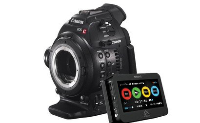 Canon C100 EF full kit with 17-55mm lens, handle and Rode NTG2 Mike