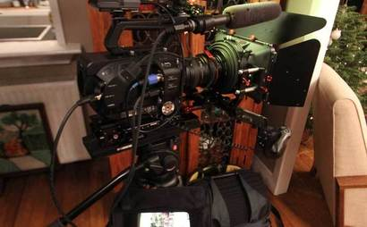 Sony FS7 full camera kit including Speedbooster, lenses, tripod, radio mike, top mike, LED lights, monitor, follow focus and matte box