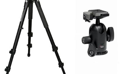 Manfrotto 055XPROB with ball head adapter
