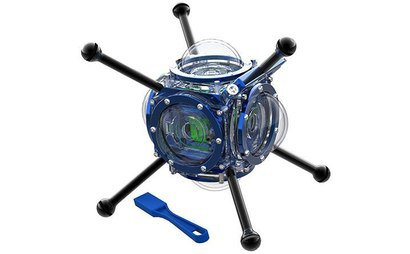 6 x GoPro in Rize 360 Abyss underwater housing pacakge
