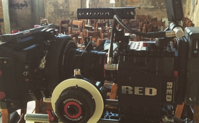 Red Scarlet-X kit including matte box and follow focus