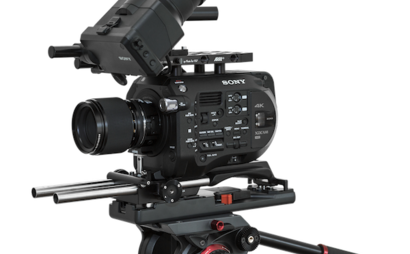 Sony FS7 with Arri PCA rig, EF or PL lens adapter and Tripod