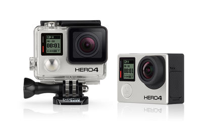 GoPro Hero 4 (Silver) with accesories