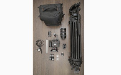 Sony A7s mk2, tripod and Canon lens shooting package