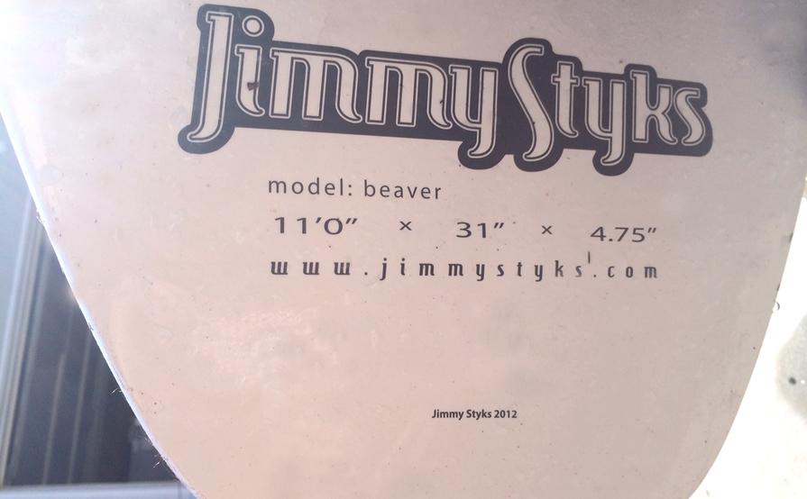 SUP Jimmy Styks: Beaver 11' x 31