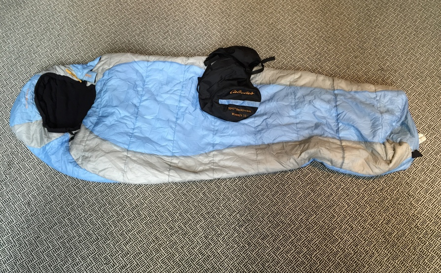 woman's medium cold sleeping bag