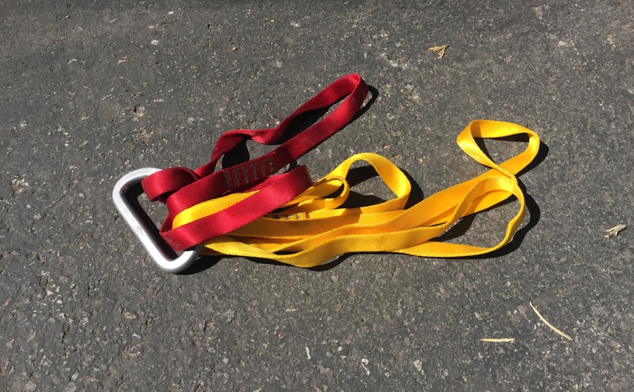 Belay Device, Quick Draws and misc slings