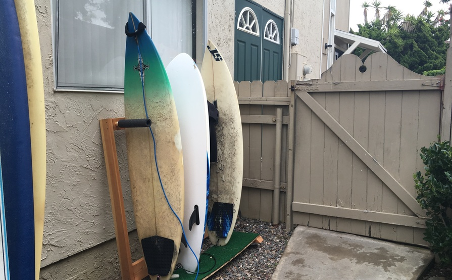 Multiple surfboards