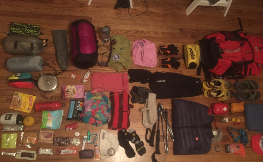 Day hiking kit for 1