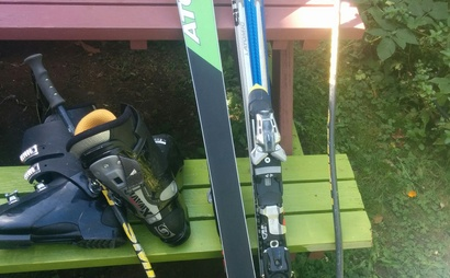 Atomic sx 10 downhill skis 170cm with adjustable binding